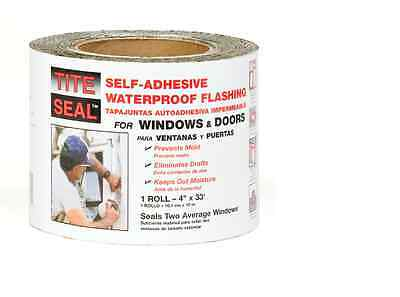 Tite Seal Self-Adhesive Waterproof 4-in x 33-ft Rubberized Asphalt Roll Flashing