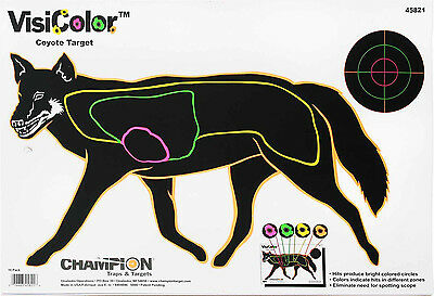 Champion Visicolor Paper Targets Fox Coyote Air Rifle Practice Shooting 45821