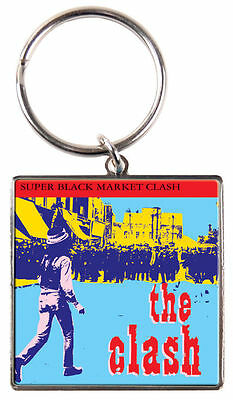 The Clash 'super Black Market Clash' Metal Keyring - New Official Merchandise