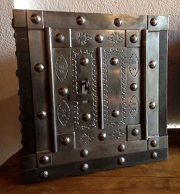 18 th Century North Italy wrought iron tricky safe strong box iron chest casket • £2,488.82