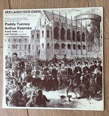 Ireland Her Own Paddy Tunney LP Traditional Irish Folk Topic Records Ex Con