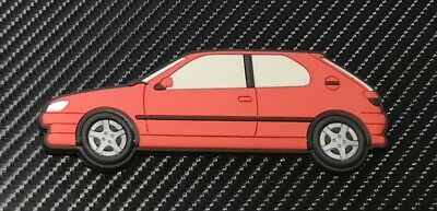 Peugeot 306 Gti 6 / S16 fridge magnets , Red