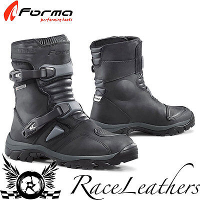 Forma Adventure Low Black Short Leather Motorcycle Motorbike Touring Boots