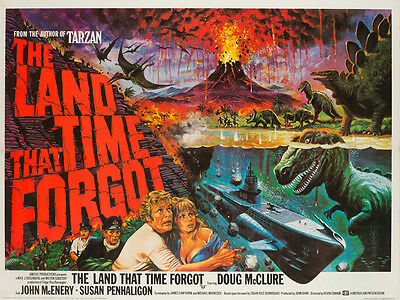 Original The Land that Time Forgot, UK Quad, Film/Movie Poster 1975, Chantrell