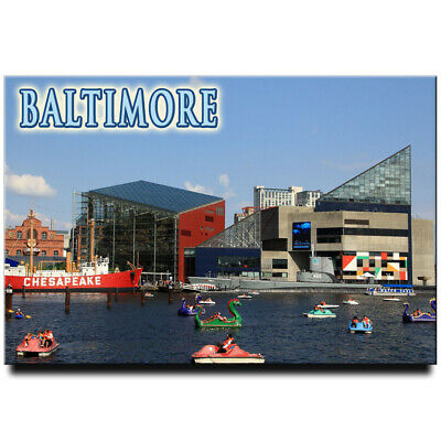 Fridge magnet with view of Baltimore, Maryland