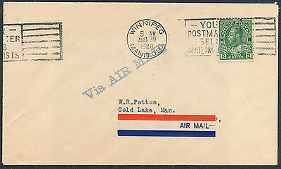 1928 AAMC #2841 The Pas to Kississing (Cold Lake), Patton Cover from Winnipeg
