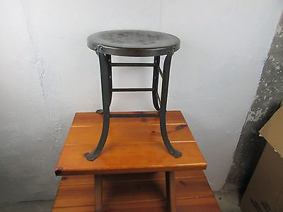 "Stool Industrial Steam Punk Metal Great Look All Original 17 1/2"" Tall Great"
