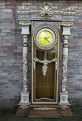 Grandfather Clock Bergere Carved Gold Large Hand Carved Italian French
