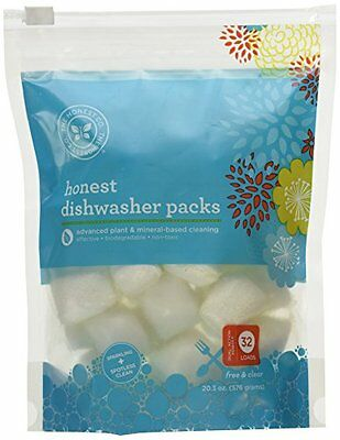 The Honest Company Dishwasher Detergent Pods - Free & Clear - 32 ct