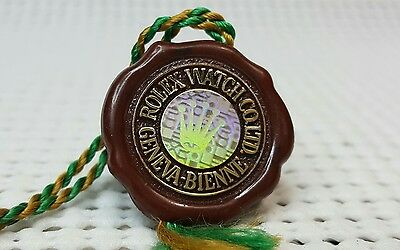 Authentic Rolex Watch Co. LTD. Officially Certified Chronometer Hang Tag