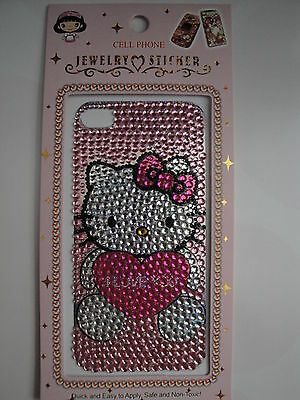 Hello Kitty Jewelry Rhinestone Sticker for Iphone 4 4S or phone Case JS03
