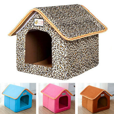 Hot Pet House Washable Cozy Soft Dog Cat Bed Dual Use Hook&Loop Kennel Cushion