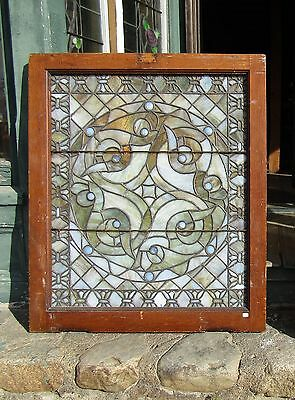 Great Victorian Era Stained Glass Window 32 By 37