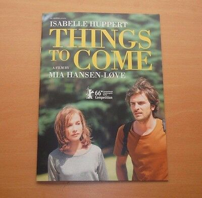 Mia Hansen-Løve THINGS TO COME Official Presskit L'AVENIR Isabelle Huppert Love