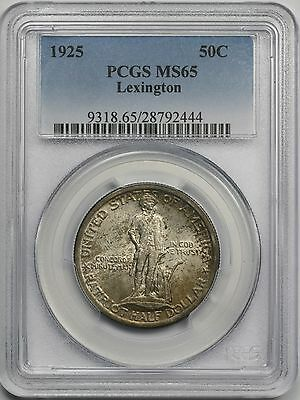 1925 Lexington Silver Commemorative Half Dollar 50C MS 65 PCGS