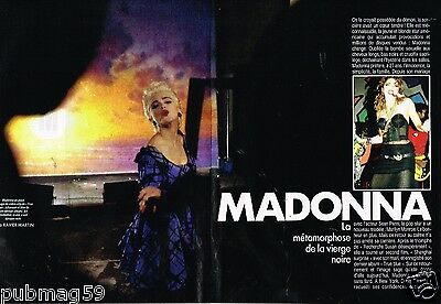 Coupure de Presse Clipping 1986 (5 pages) Madonna