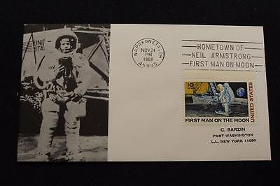 Space Cover 1969 Machine Cancel Hometown Hero Neil Armstrong Sarzin (1745)