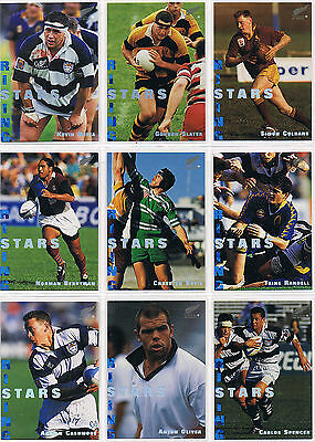 1995 Dynamic NZ RISING STARS complete set 9 RS1 to RS9