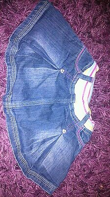 Mothercare * Lovely Jeans Girls Skirt* Size 0-3 months