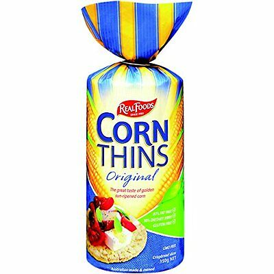 Real Foods Organic Original Corn Thins, 5.3 Ounce -- 6 per case.