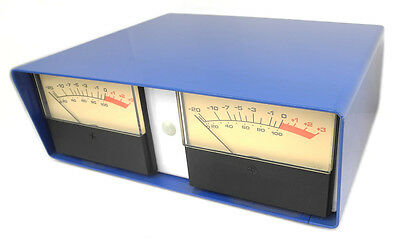 """Desktop Enclosure With Stereo +4 Trimmable VU Meters, 1/4"""" TRS Jacks At Rear. VU"""