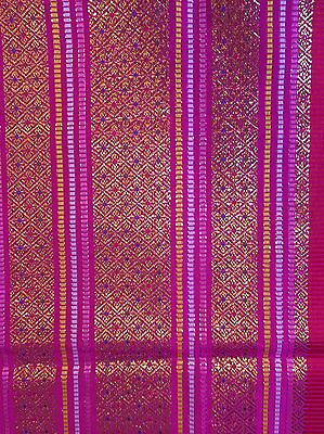 Malong Philippine Sarong Wrap Around Skirt Traditional Dance Costume Pink