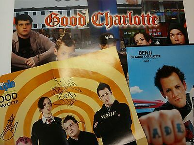 3 Good Charlotte Magazine Poster Teen People 15x20 Tiger Beat 20x16 Benji 10x15