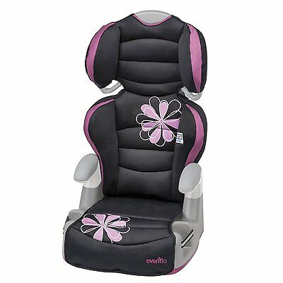 Pink Evenflo High Car Seat Back Booster Baby Toddler Child Big Kid Safety