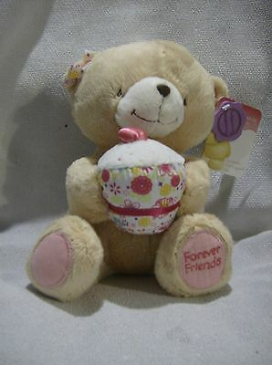 Forever Friends plush 9inch teddy with cupcake