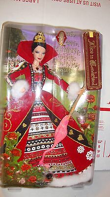 The QUEEN OF HEARTS Barbie Doll  Alice in Wonderland 2007 NRFB Silver Label