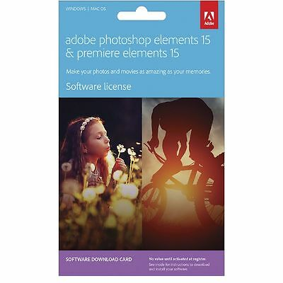 Adobe Photoshop and Premiere Elements 15 PC or Mac Card