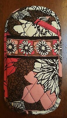Vera Bradley Soft Quilted Sunglass/Glasses Case Retired Mocha Rouge Pink Brown