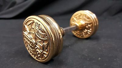 Solid Brass Door Knobs Set of 2 Victorian Design Ornate & Gorgeous