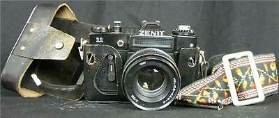 Vintage Zenit 11 SLR camera with case, strap and Helios 44M Lens A7