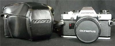 Vintage Olympus OM10 SLR Camera with Zuiko 50mm F1.8 lens and case Made in Japan
