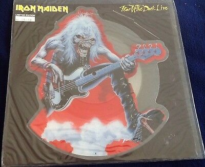 RARE Iron Maiden Fear of the Dark Live Ltd Ed Vinyl Shaped Picture Disc Single