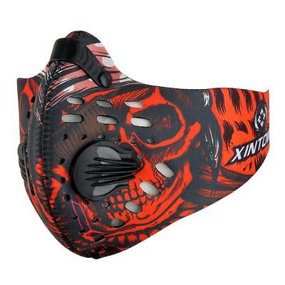 Anti Dust Motorcycle Bicycle Cycling Bike Ski Half Face Mask Filter Red