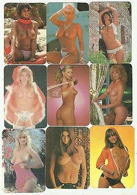 1992 - 1996 EROTIC SEXY GIRL NUDE 18 different pocket calendar Printed in PERU