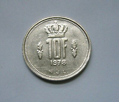 Luxembourg  10 Francs 1978, Ruler: Jean