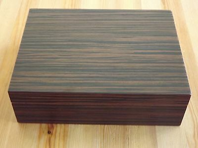 Authentic Exotic Ebony Finish Wood 50 Count / Cigar Humidor New