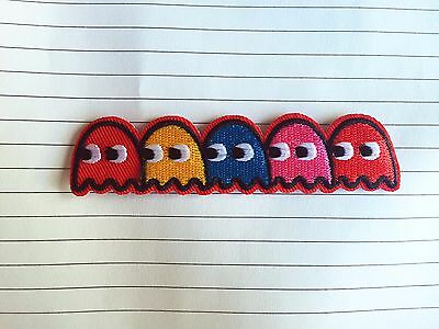 cute retro arcade PACMAN ghost SEW IRON ON PATCHES bag hat clothing patch