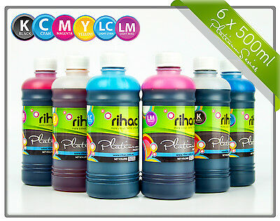 Rihac 500ml refill inks for Epson 277 & 277XL printers suits XP-850 860 950 960