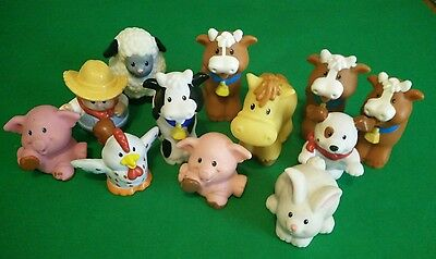 fisher price little people farm figurines lot 12 pcs