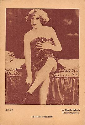 Esther Ralston sexy leggy semi-nude South American postcard photo, 1920s