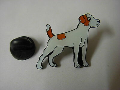 Jack Russell dog pin badge. Well detailed lapel badge,