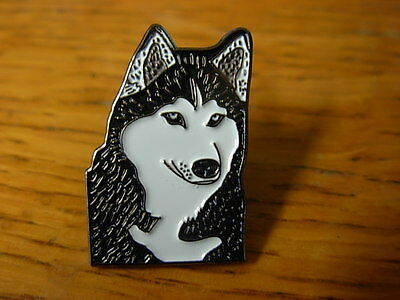 Husky dog pin badge. Well detailed lapel badge
