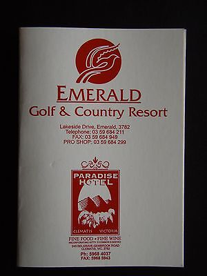 Emerald Golf & Country Resort Score Card