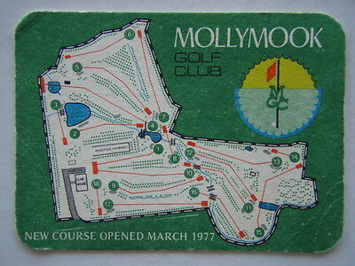 Mollymook Golf Club New Course Opened March 1997 Scorecard Coaster