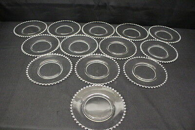 """13 Vintage Clear Imperial Elegant Candlewick 8 1/4"""" Round Salad/Luncheon Plates"""
