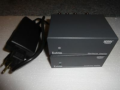 LOT OF 2 EXTRON 3 Output Composite Video & Stereo Audio Distribution Amp MDA 3AV